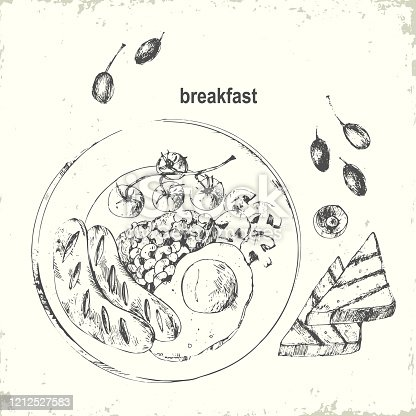 istock Hand drawn ink food illustration 1212527583