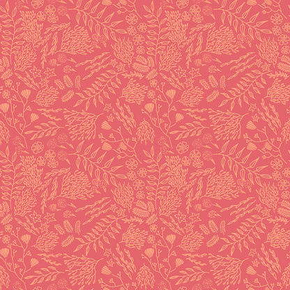Hand Drawn Intricate Seamless Floral Vector Pattern