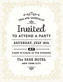 Hand drawn retro invitation.File is layered with global colors.More works like this linked below.
