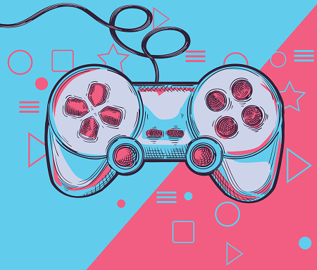 Hand drawn joystick game controller