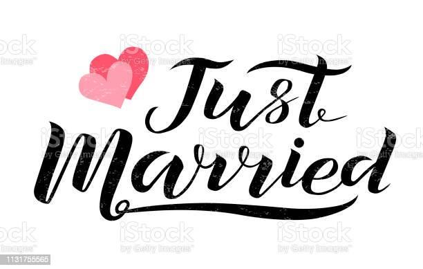 Just Married Sign Banner Vectors Download Free Vectors