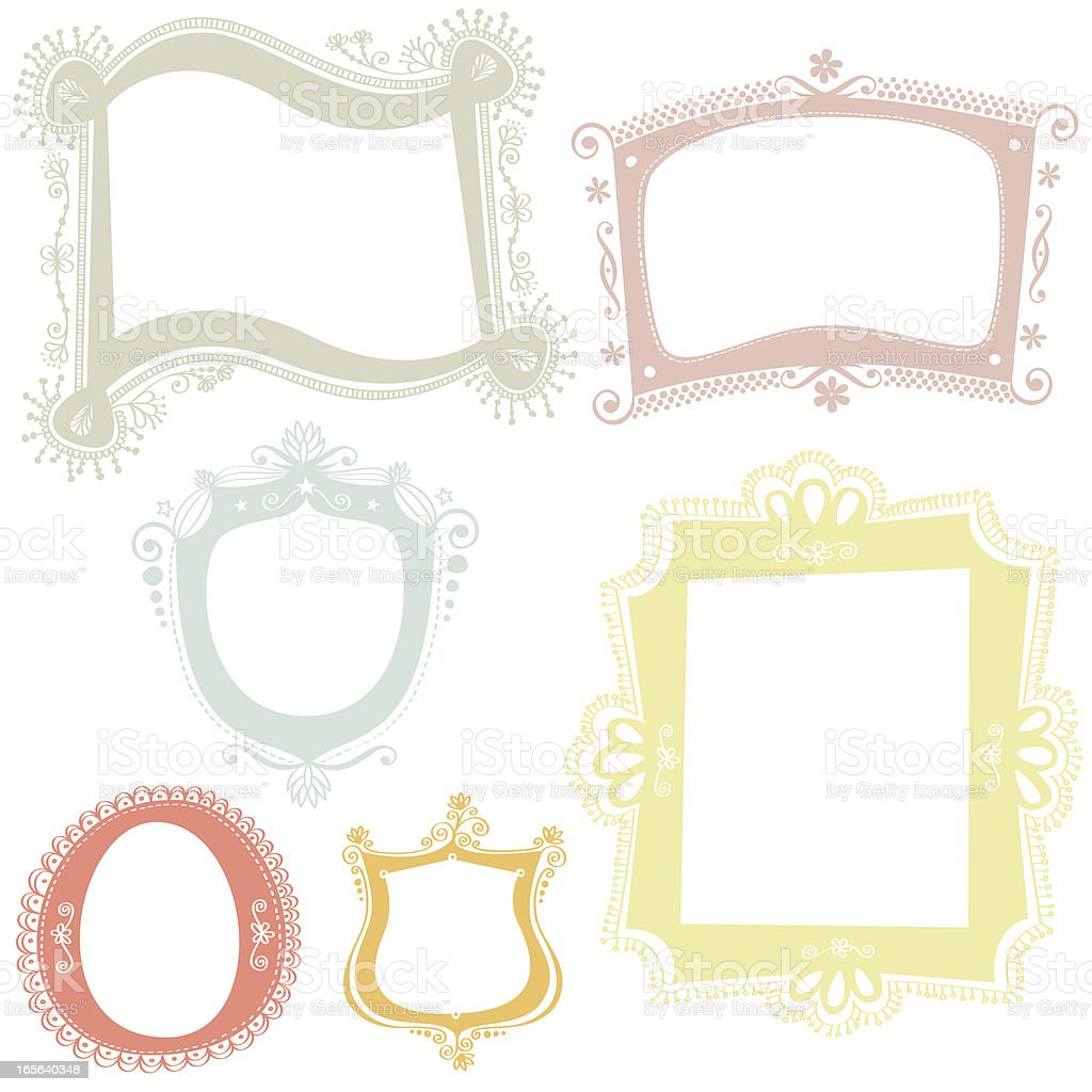 Hand drawn label collection royalty-free stock vector art
