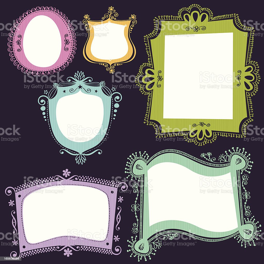 hand drawn labels collection royalty-free stock vector art