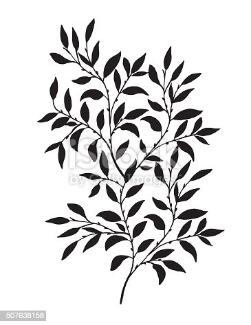 Hand Drawn Leaves Vine Stock Vector Art & More Images of ...