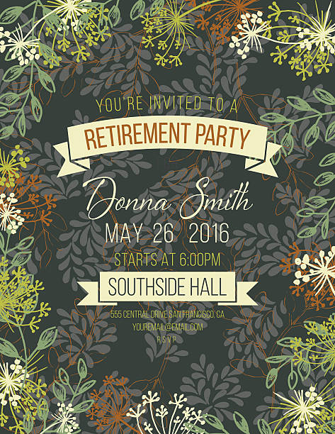 Royalty Free Retirement Party Invitation Clip Art Vector Images