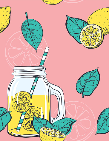 Hand Drawn lemons Pattern