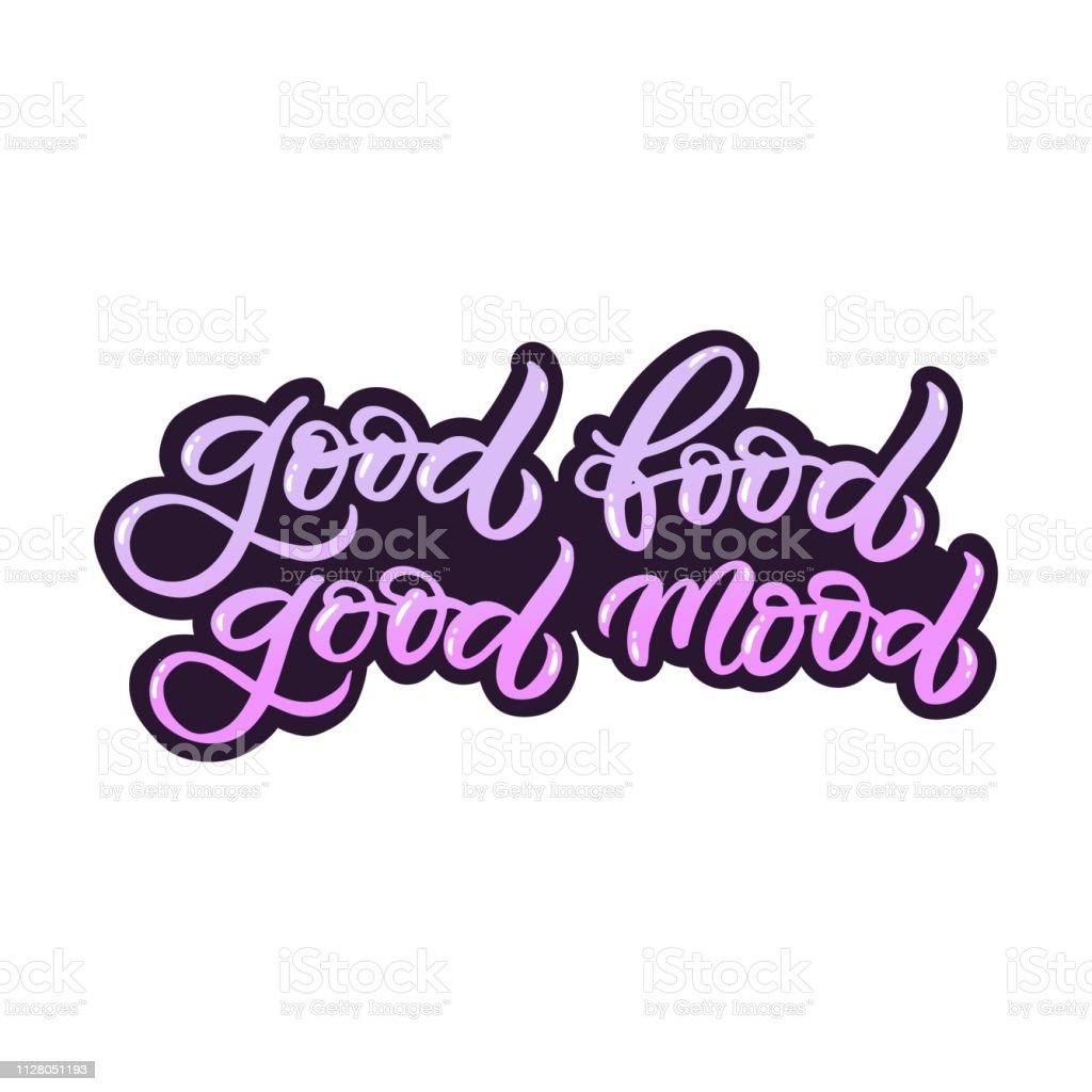Handgezeichnete Schriftzug Karte Die Inschrift Gutes Essen
