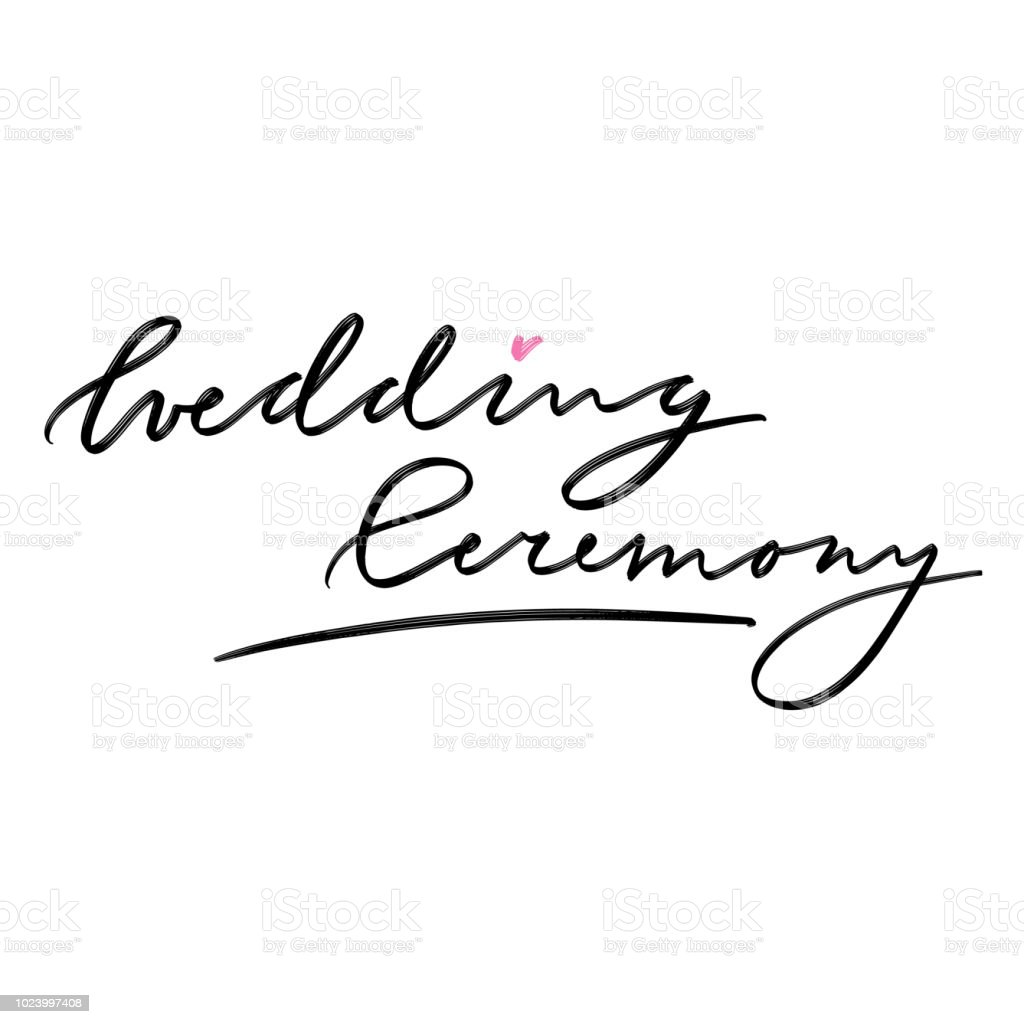 hand drawn lettering for wedding stationary for cards and