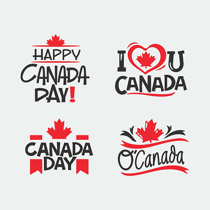 Hand drawn lettering quote for Canada Day vector design