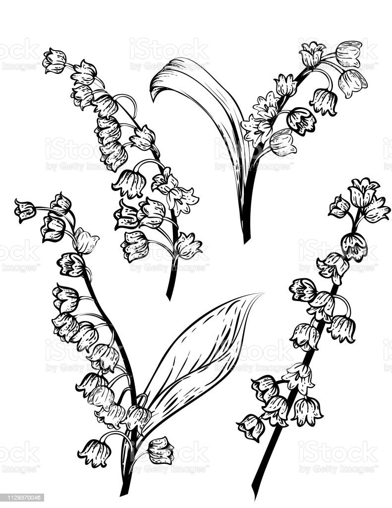 tattoo of lily of the valley flower
