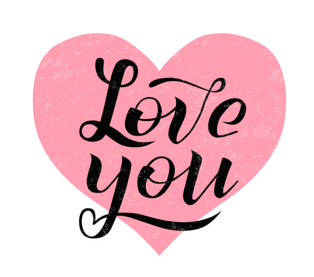 Download Best Silhouette Of A I Love You Cursive Illustrations ...