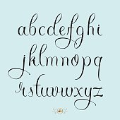 Hand drawn lowercase font