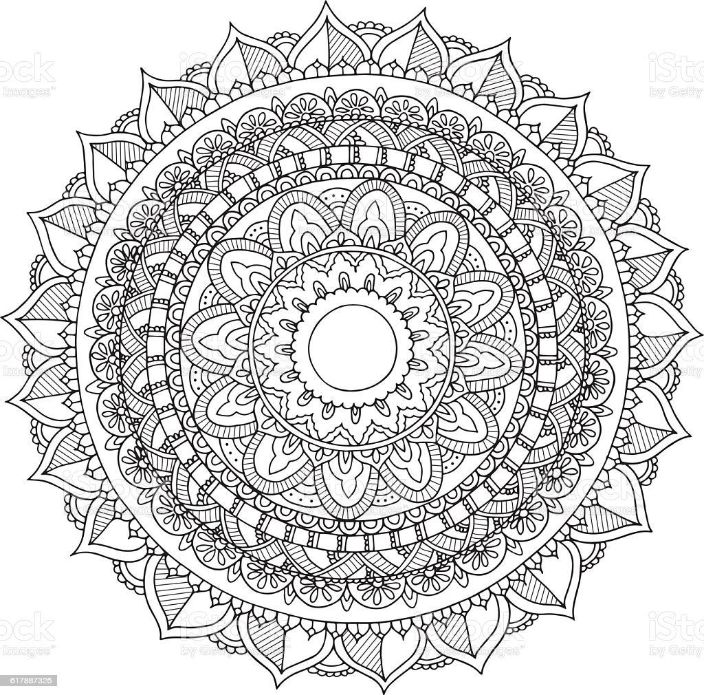 Hand drawn mandala vector art illustration