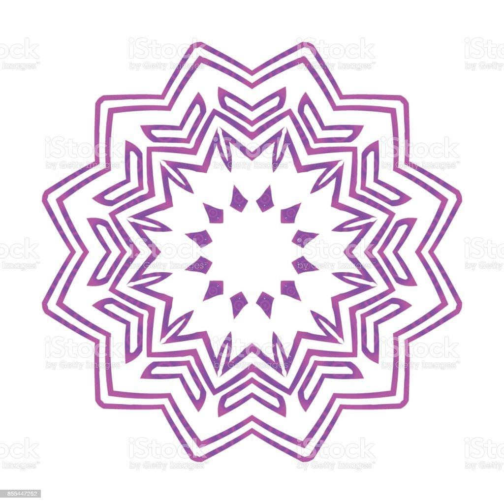 Die Hand Gezeichnete Mandala Mit Blume Geometrische Elemente ...