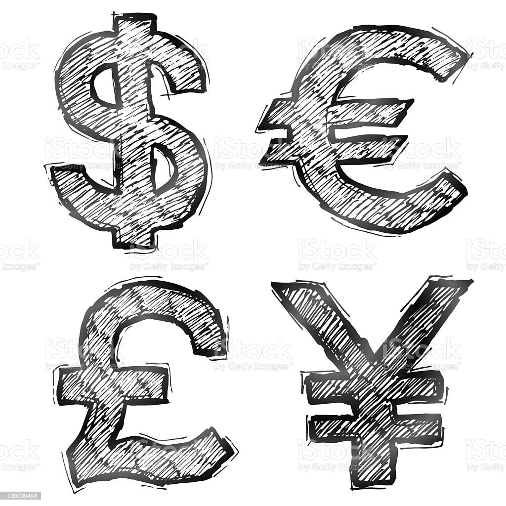Hand drawn money symbols with hatching stock vector art more hand drawn money symbols with hatching royalty free hand drawn money symbols with hatching stock biocorpaavc Image collections