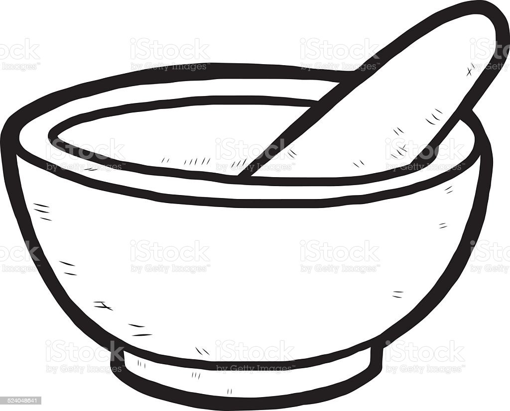 Hand Drawn Mortar And Pestle Stock Vector Art  for Mortar And Pestle Drawing  113cpg