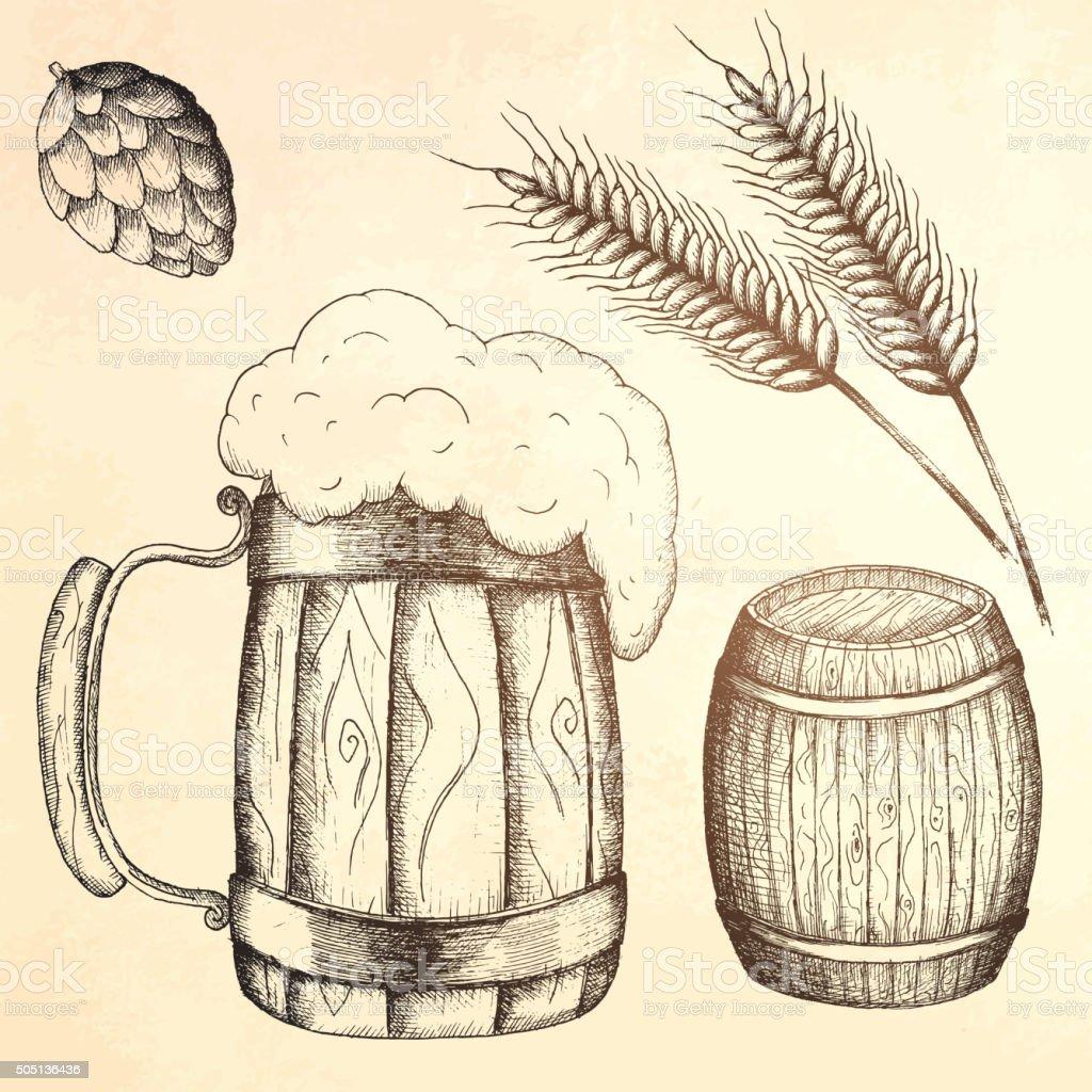 Disegno A Mano Boccale Di Birra Immagini Vettoriali Stock E Altre