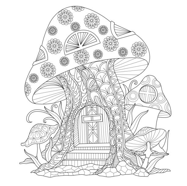 royalty free fairy house clip art vector images