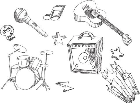 Hand Drawn Music Rock