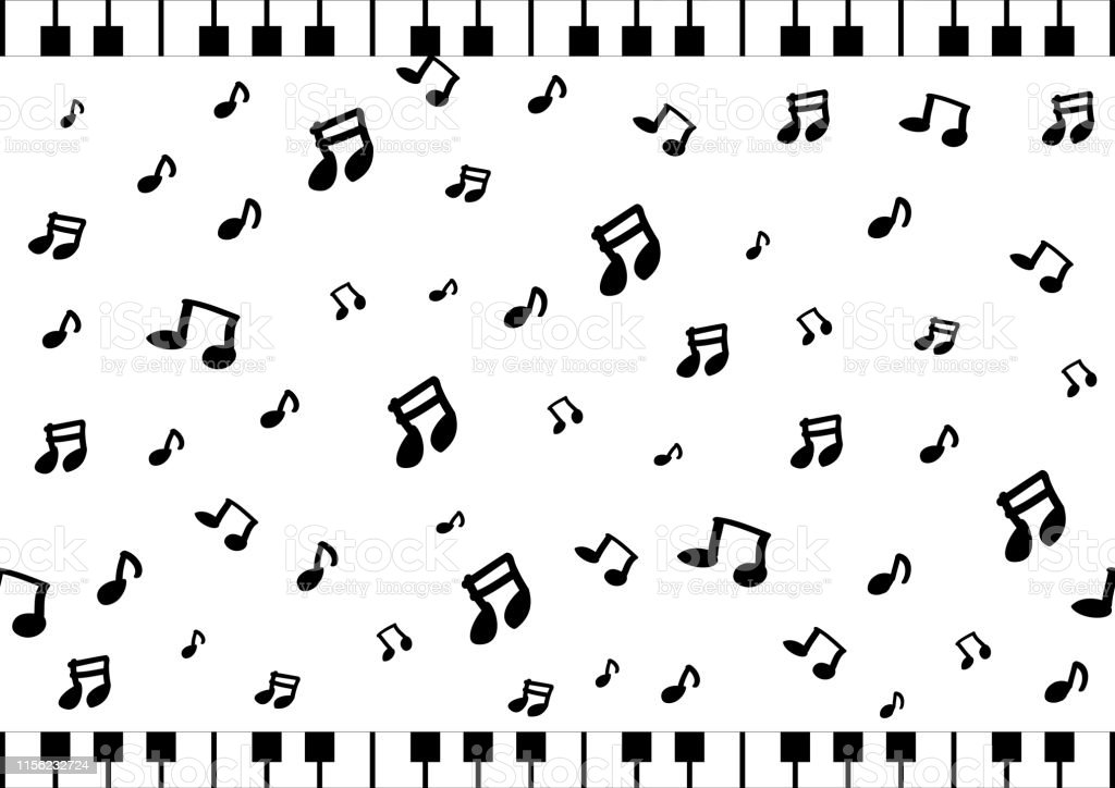 hand drawn musical note background for musical concert and party...