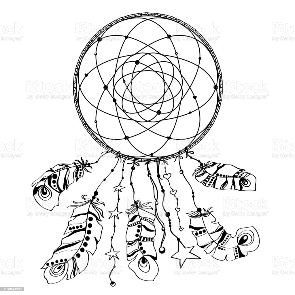 Ilustración De Mano Dibujada Indio Americano Nativo Talismán