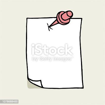 istock Hand drawn notepaper 1078688450