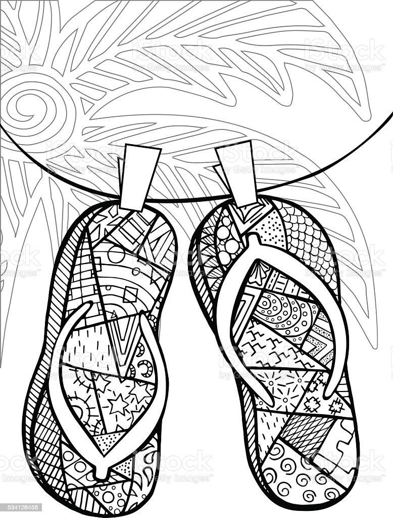 Ilustración de Dibujado A Mano Zentangle De Fracasos De Tirón Para ...