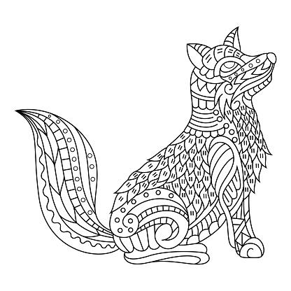 Hand drawn of fox