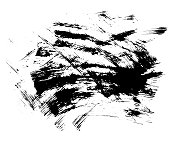 Hand drawn of grunge texture. Brush strokes of black ink. Vector illustration. Abstract texture.