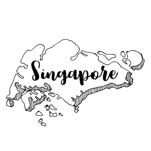 Royalty Free Singapore Map Icon Vector Clip Art Vector Images - Singapore map vector
