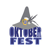 Hand drawn Oktoberfest design element