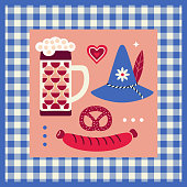 Hand drawn Oktoberfest design elements