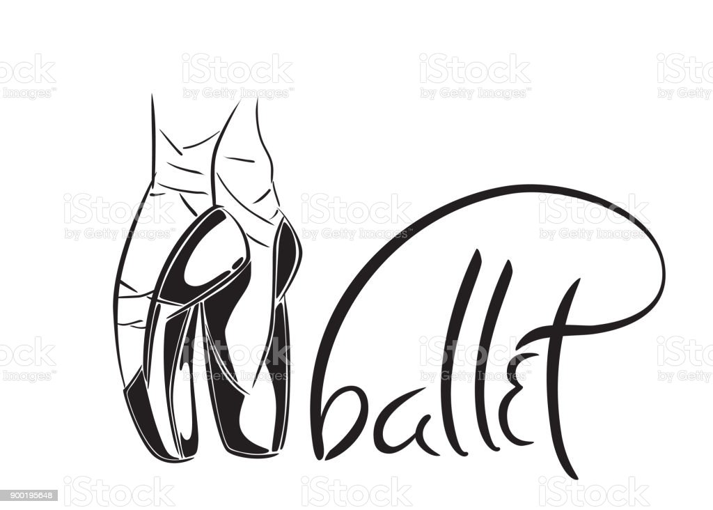 Handgemalte Alte Stil Schriftzug Des Wortes Ballett ...