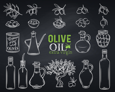 Hand Drawn Olives Stock Illustration - Download Image Now