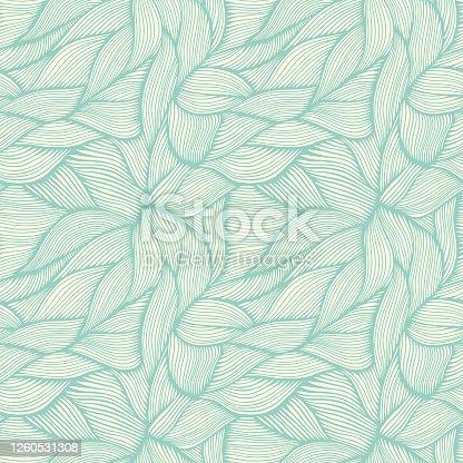 istock Hand Drawn Organic Intertwined Seamless Pattern 1260531308