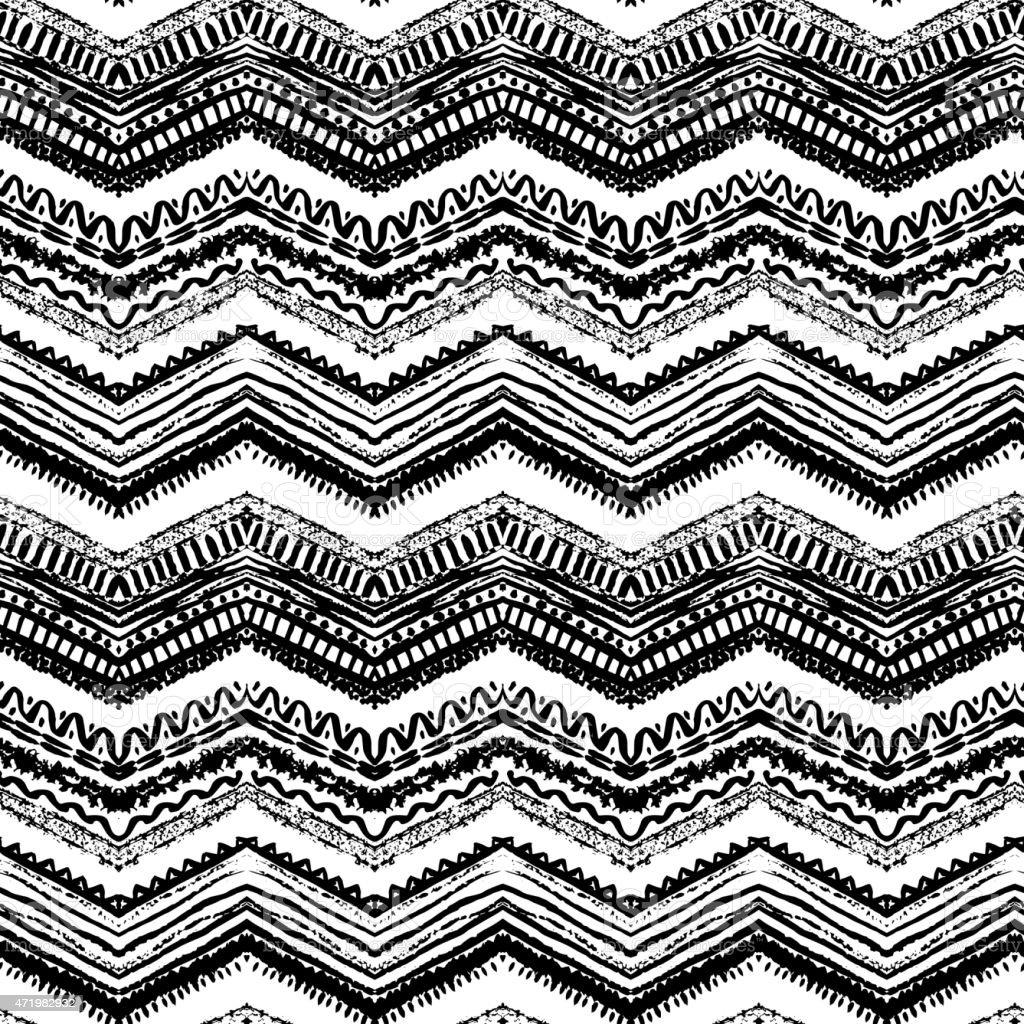 Hand drawn painted seamless pattern. Vector illustration vector art illustration