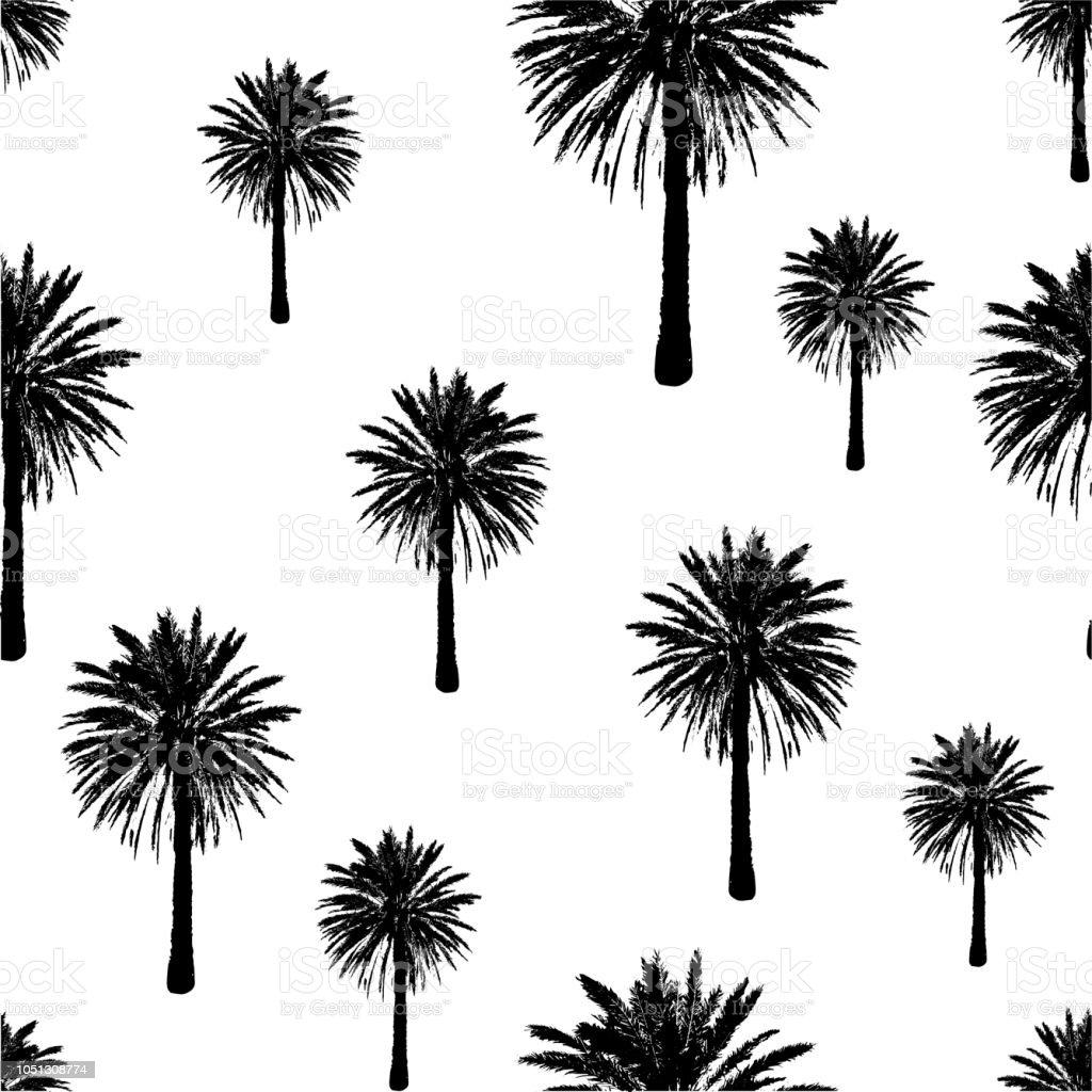 Ilustración de Patrones Sin Fisuras De La árboles Dibujados De La ...