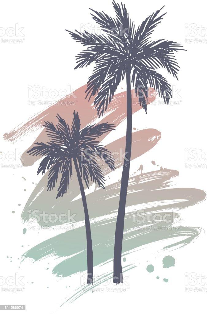 Hand Gezeichnet Palmen Stock Vektor Art und mehr Bilder von ...