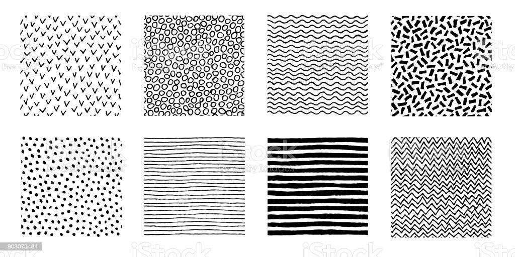 Hand Drawn Patterns Doodle Design vector art illustration