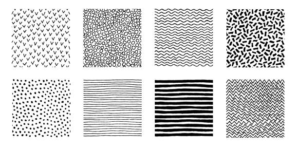 hand drawn patterns doodle design - pasiasty stock illustrations