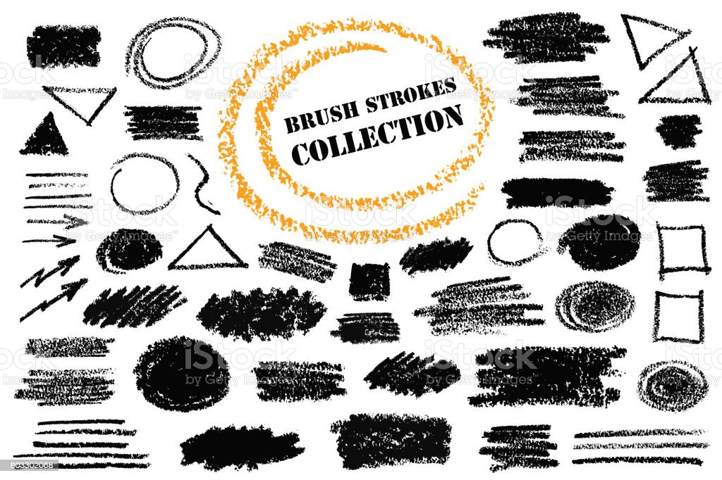 Hand Drawn Pencil Shapes royalty-free hand drawn pencil shapes stock illustration - download image now