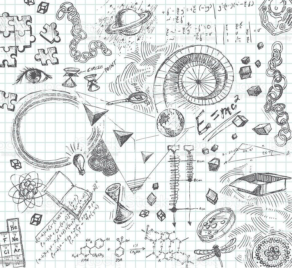Hand drawn pencil sketches of scientific concepts royalty-free hand drawn pencil sketches of scientific concepts stock vector art & more images of algebra