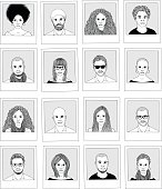 Collection of hand drawn photographs