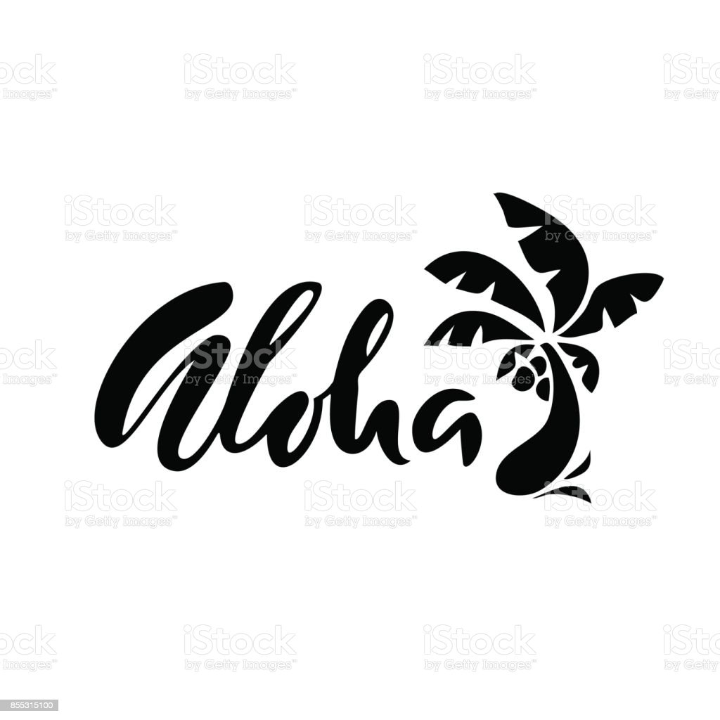 Ilustração De Frase De Mão Desenhada Aloha Desenho De Letras