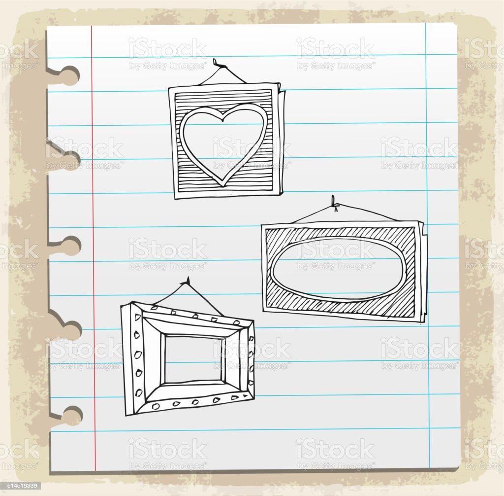 Hand Drawn Bilderrahmen Stock Vektor Art und mehr Bilder von ...