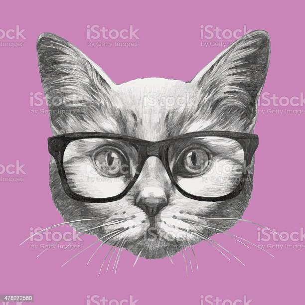 Hand drawn portrait of cat with glasses vector id478272580?b=1&k=6&m=478272580&s=612x612&h=pvgfpx4jypnp h04k0th09esuyfuj5h3uusfg3bodca=