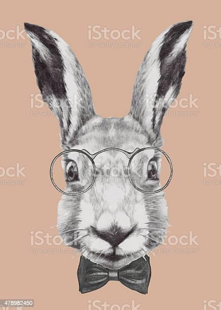 Hand drawn portrait of rabbit with glasses and bow tie vector id478982450?b=1&k=6&m=478982450&s=612x612&h=iu8aqetcesnq0jdsv0ioghksatgq7kskkufpbebj6lq=