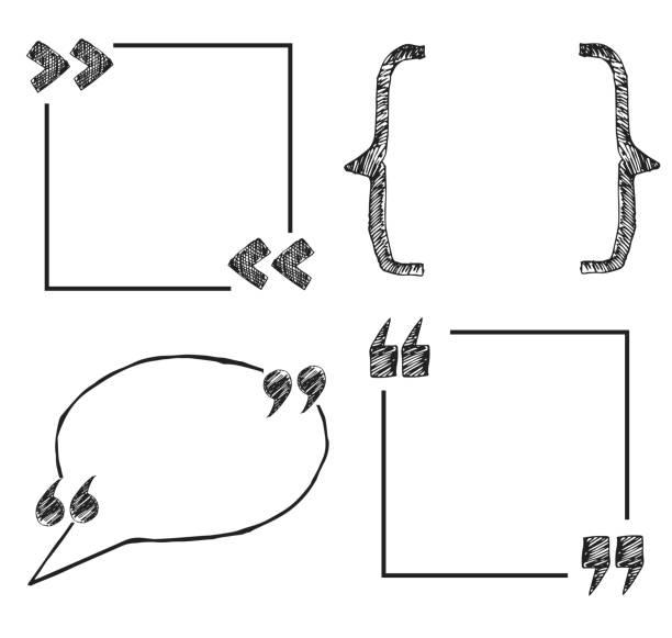 Hand gezeichnet Zitat texboxes – Vektorgrafik