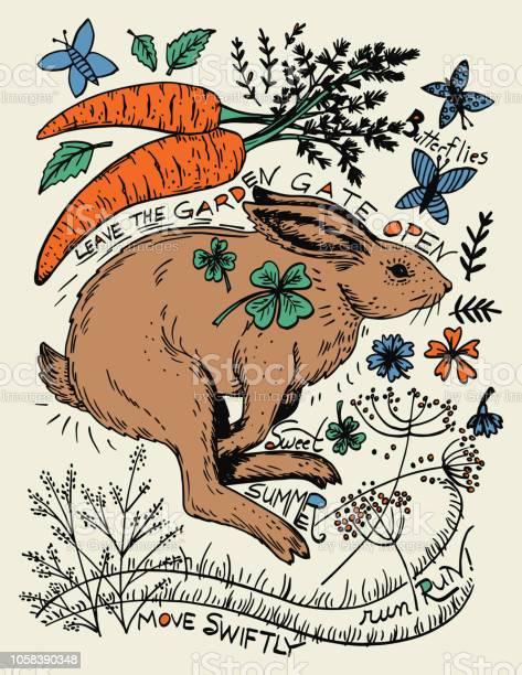 Hand drawn rabbit and plants vector id1058390348?b=1&k=6&m=1058390348&s=612x612&h=f0mmfkd ddq7l1mdaiv5rktehsxu74 v1ha dfzouvc=