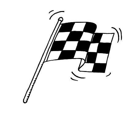 Hand drawn Racing Flag